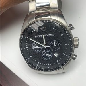 Emporio Armani stainless steel watch